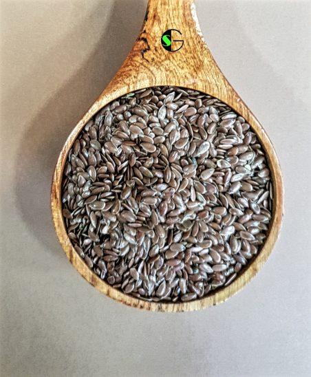 Lino marrón a granel
